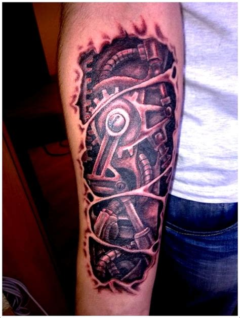 mechanical sleeve tattoo designs 35 bio mechanical designs