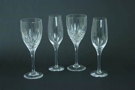 crystal wine glasses crystal cut glass wine glasses and nine sherry flutes