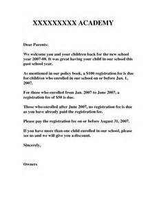 Parent Welcome Letter From Preschool 9 Best Images Of Kindergarten Welcome Letter Template