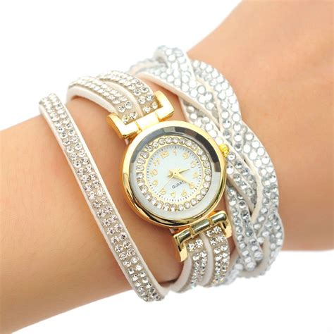 Jam Tangan Cyma Quartz fashion luxury rhinestone bracelet quartz