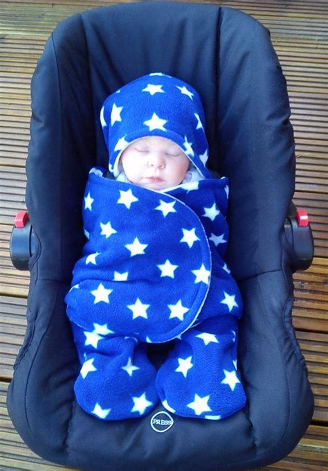 infant car seat swaddle blanket car seat cosy wrap swaddle blanket baby royal blue and