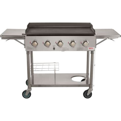 academy outdoor gourmet 5 burner gas grill outdoor gourmet 5 burner ss griddle silver bbq grills smokers gas grills at academy