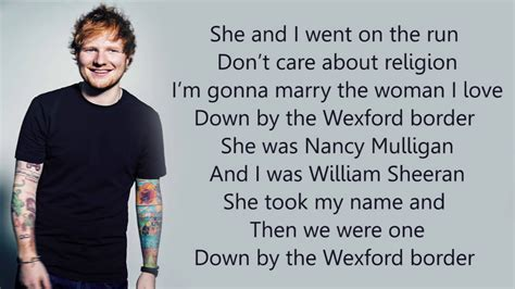 ed sheeran nancy mulligan lyrics ed sheeran nancy mulligan lyrics youtube