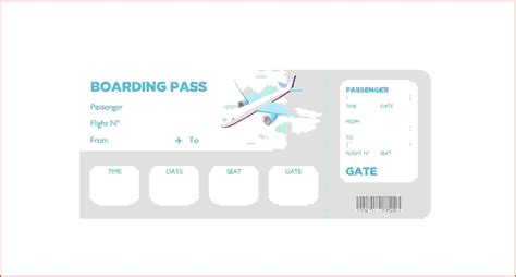 boarding pass place card template boarding pass template beepmunk