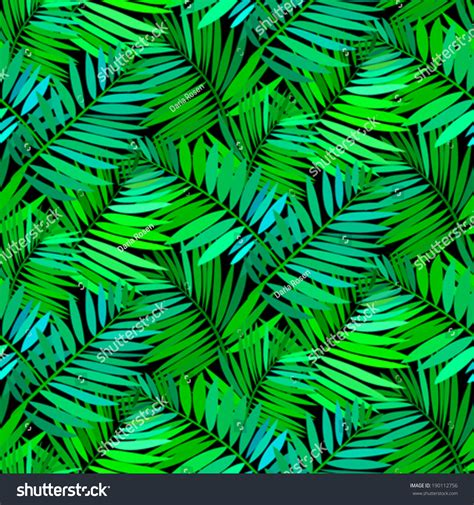 color pattern nature vector seamless pattern leafs inspired by stock vector