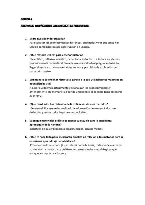 preguntas de historia primaria 3 preguntas sobre la ense 241 anza de la historia