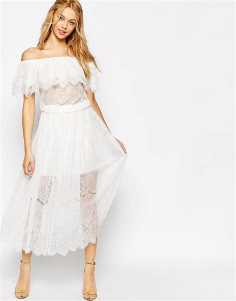 Irena Boho Ruffle Dress bohemian lace maxi dresses shop