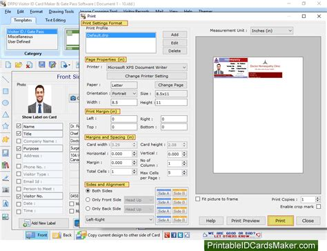 software pattern visitor visitors gate pass id cards maker software screenshots to