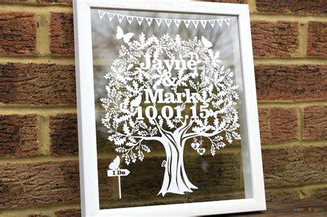 unique wedding gifts ideas personalised papercuts - Wedding Gift Ideas Uk