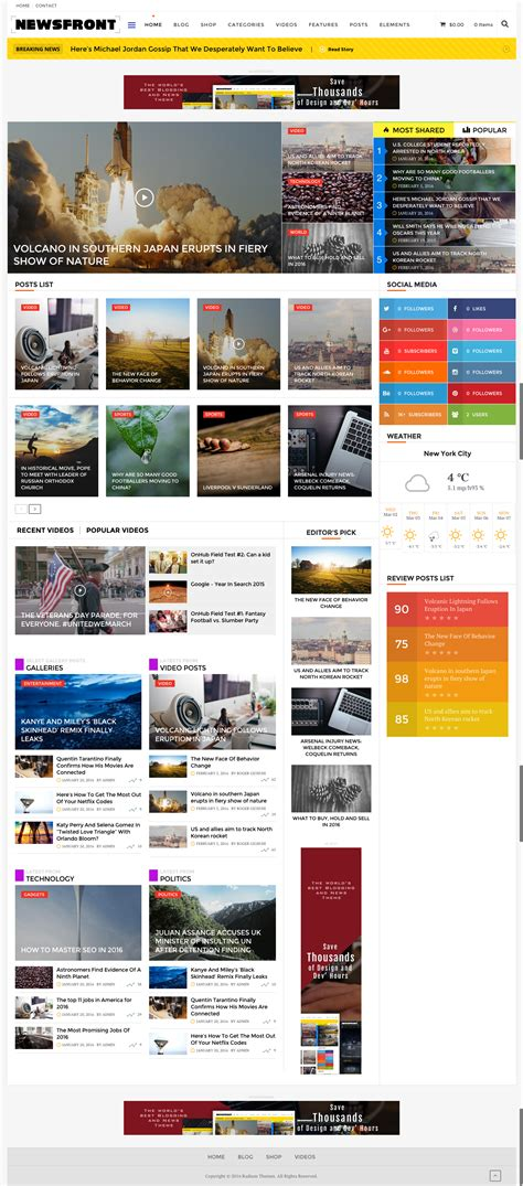 blogger ecommerce themes newsfront blog news editorial ecommerce wordpress