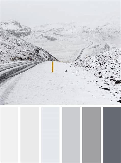 winter color schemes grey and white winter color scheme winter color palette