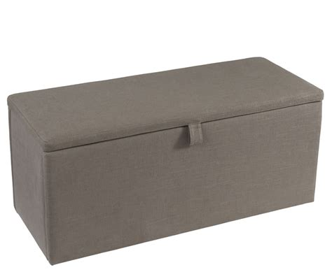 Just Ottomans Fossil Grey Upholstered Ottoman Just Ottomans