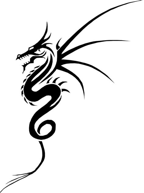 tribal dragon drawing www pixshark com images