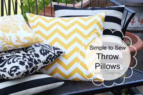 How To Make Sofa Pillows How To Make A Pillow Simple Sewing Girl Inspired
