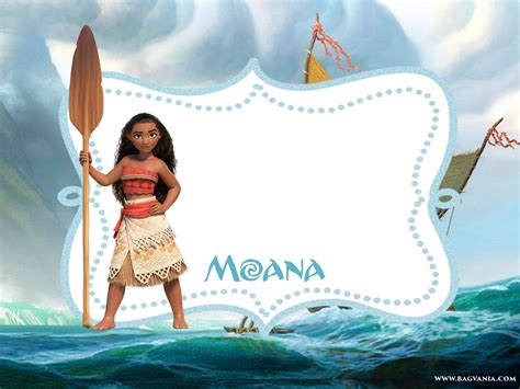 moana birthday card template free printable moana invitation template bagvania free