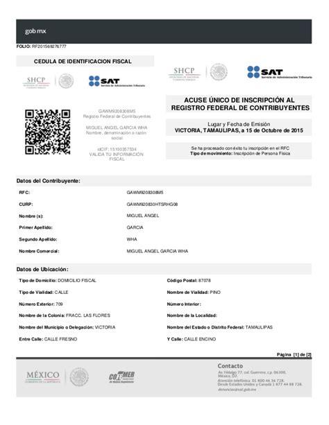 rfc registro federal de contribuyentes y newhairstylesformen2014 com rfc sat miguel angel garcia wha