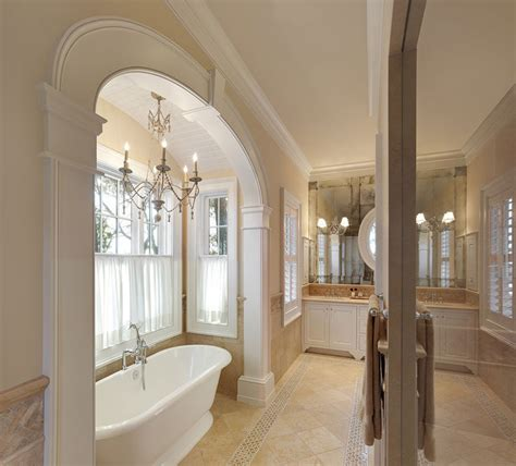 arch accenuates tub  master bath traditional bathroom charleston  christopher  rose