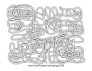 coloring pages with hidden words apology hidden word coloring page