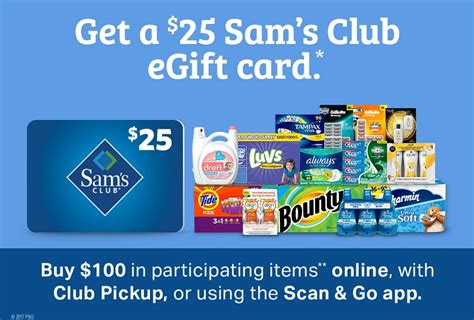 Sam S Club Gift Card Offer - expired get 25 sam s club gift card on 100 spend on participating items frequent