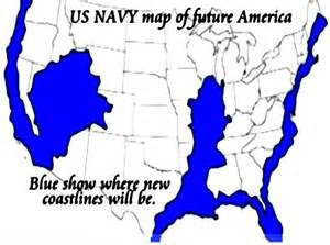 us navy map of flooded future america agenda 21 us navyfuture map east west coast madrid