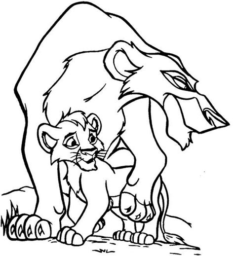 lion king coloring pages scar freecoloring4u com