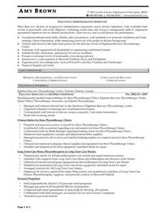 resume for an administrative assistant sles of resumes