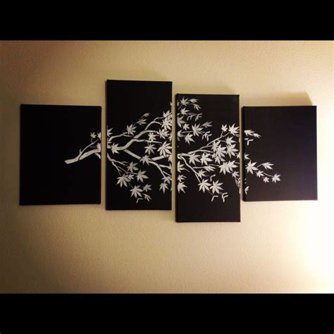 how to hang canvas art diy canvas art buy or salvage multiple canvases spray