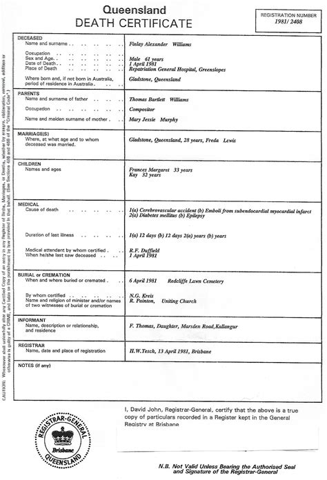 birth certificate design qld qld birth certificate sle image collections