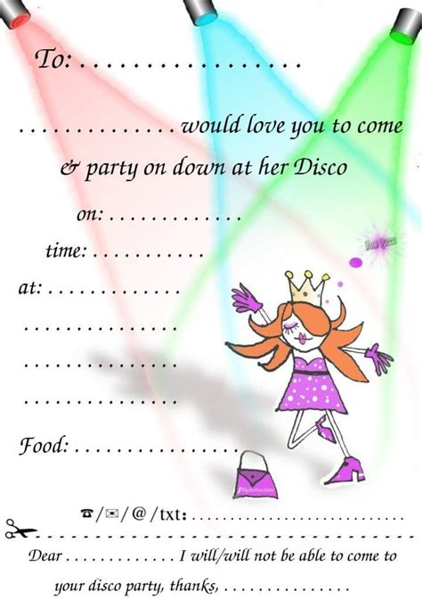Pin Free Disco Party Invitations On Pinterest Disco Invitations Free Template