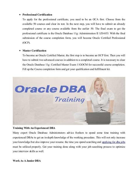 Oracle Dba Internship oracle dba