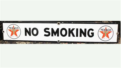 no smoking sign at gas station 1953 texaco no smoking gas station sign ssp lot k80
