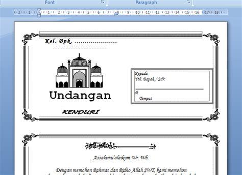 template undangan walimatul ursy doc koleksi undangan format word markas dunia maya
