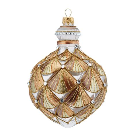 art deco finial christmas ornament gump s