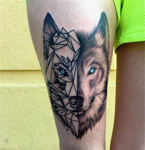 geometric wolf tattoo geometric wolf with wolf geometric