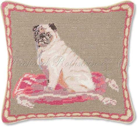 pug needlepoint 15 best my collection of paintings images on 19th century costura and