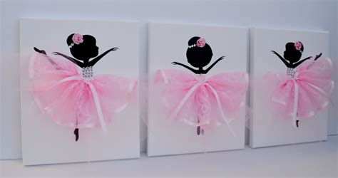 Ballerina Wall Decor by Ballerina Nursery Wall In Pink And White Room