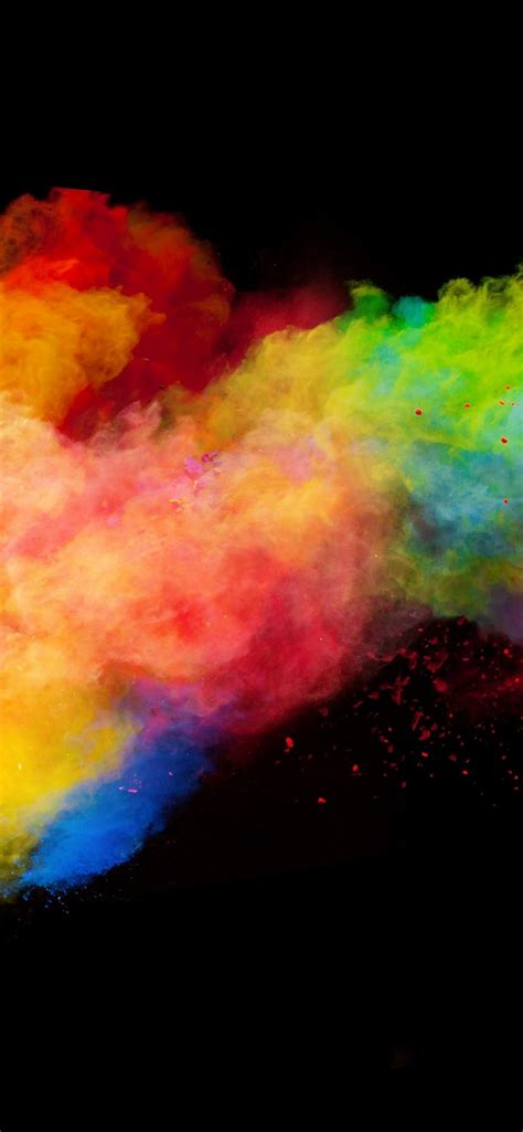 wallpaper colorful smoke rainbow colors black background  uhd  picture image