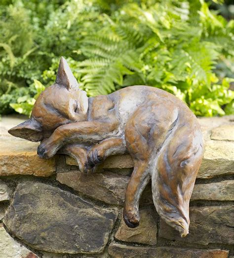 Fox Garden Statue by 25 Best Ideas About Garden Statues On Statues