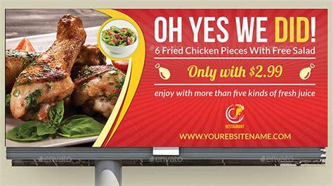 design banner restaurant 20 beautiful restaurant banner billboard templates