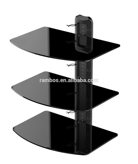 3 Shelf Wall Mount For Components by Three Shelves Component Av Dvr Dvd Cable Box Tv Wall Mount Glass Rack Buy Tv Wall Rack