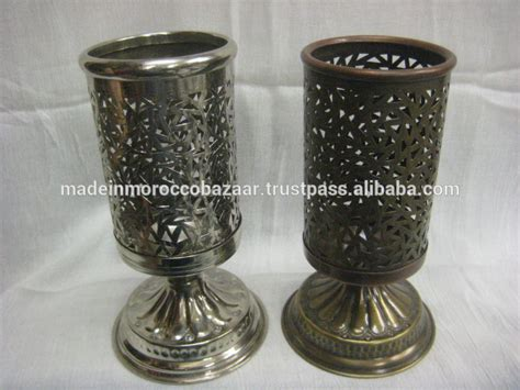 Pretty Candle Holders Pretty Moroccan Handmade Metal Perforated Candle Holders