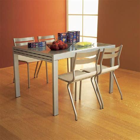 tavolo 80 x 120 allungabile vr120 tavolo allungabile in metallo con piano in vetro
