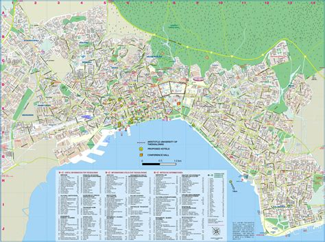 maps c thessaloniki tourist map thessaloniki greece mappery
