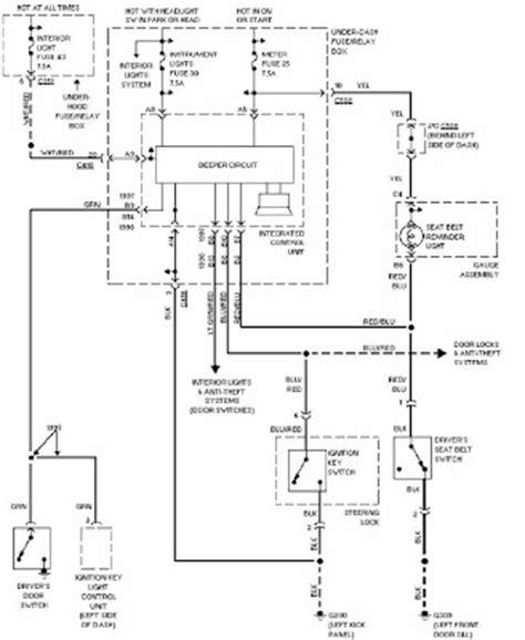 honda cr   system warning wiring diagram