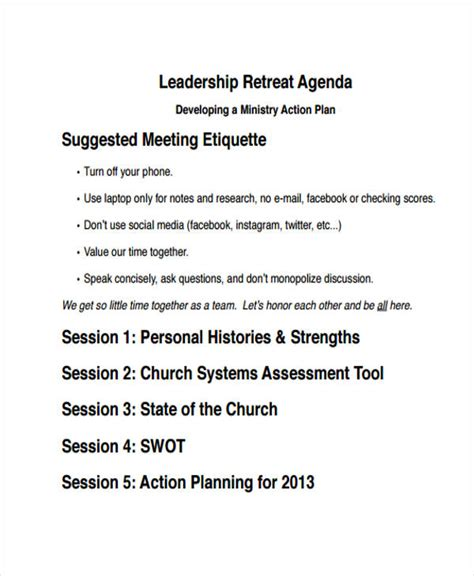 10 Retreat Agenda Templates Free Word Pdf Format Download Free Premium Templates Retreat Schedule Template