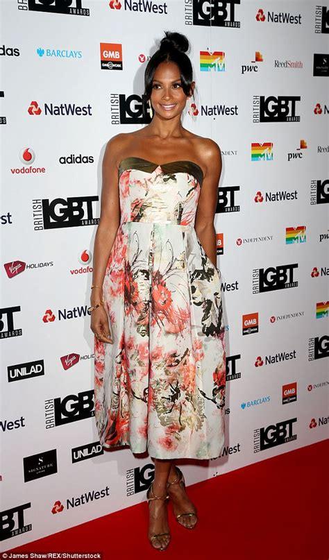 Alesha Dress Set alesha dixon cosies up to partner azuka at lgbt awards