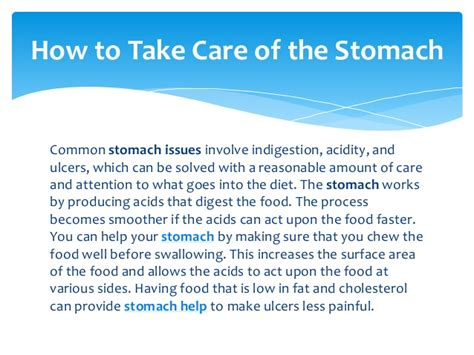 How To Take Care Of Stomach Help Ibs Digestion Help