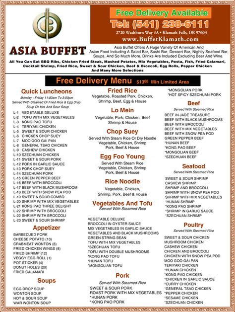 asian buffet klamath falls or 97603 4518 yellowbook