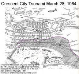 california tsunami map crescent city harbor tsunami map in memory of those 11