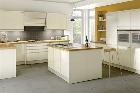 cream gloss kitchen ideas planar cream kitchen style kitchens magnet trade k c r